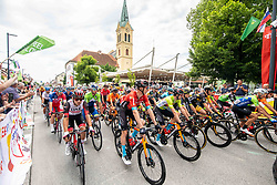 Peloton during 2nd Stage of 27th Tour of Slovenia 2021 cycling race between Zalec and Celje (147 km), on June 10, 2021 in Zalec - Celje, Zalec - Celje, Slovenia. Photo by Vid Ponikvar / Sportida