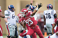 FAYETTEVILLE, AR - NOVEMBER 22:  Tevin Mitchel #23 of the Arkansas Razorbacks celebrates after Arkansas recovers a fumble against the Ole Miss Rebels in the first quarter at Razorback Stadium on November 22, 2014 in Fayetteville, Arkansas.  The Razorbacks defeated the Rebels 30-0.  (Photo by Wesley Hitt/Getty Images) *** Local Caption *** Tevin Mitchel
