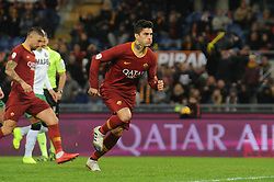 December 26, 2018 - Rome, Italy - Diego Perotti of Roma celebrates after he scores the penalty of 1-0 during the Serie A match between Roma and Sassuolo at Stadio Olimpico, Rome, Italy on 26 December 2018. (Credit Image: © Federica Roselli/NurPhoto via ZUMA Press)