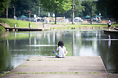 Fishing at the Lake Carnegie