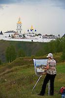 Russie, Siberie, region de Tioumen, Tobolsk, le Kremlin, Ludvina, peintre et professeur d architecture // Russia, Siberia, Tyumen Oblast, Tobolsk, the Kremlin, Ludvina, painter and architecture teatcher