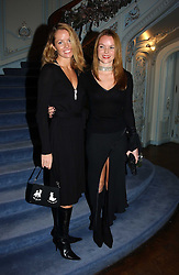 Right, Actress AMANDA HOLDEN with her sister DEBBIE at jewellers Tiffany's Christmas party held at The Savile Club, 69 Brook Street, London on 14th December 2004.<br /><br />NON EXCLUSIVE - WORLD RIGHTS