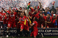Photo: Paul Thomas.<br /> Espanyol v Sevilla. UEFA Cup Final. 16/05/2007.<br /> <br /> Sevilla celebrates.