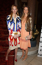 Left to right, CLEMENTINE HAMBRO and AMANDA CROSSLEY at a fashion show featuring the Miss Selfridge Autumn/Winter '05 collections held at The Wallace Collection, Manchester Square, London W1 on 6th April 2005.<br /><br />NON EXCLUSIVE - WORLD RIGHTS