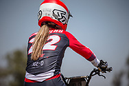 #22 (SMULDERS Merel) NED during practice at Round 9 of the 2019 UCI BMX Supercross World Cup in Santiago del Estero, Argentina