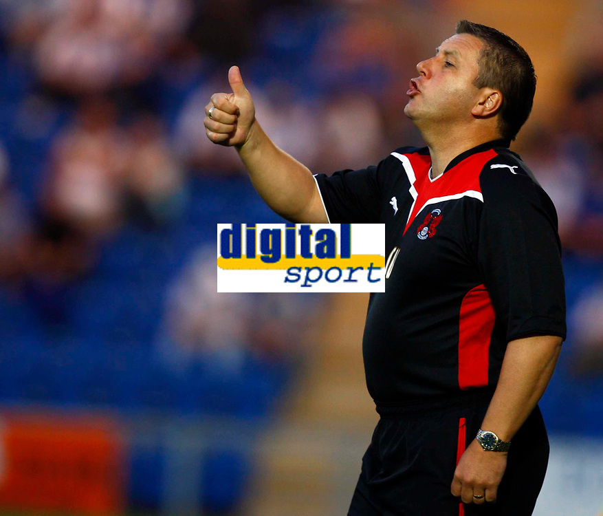 Football Carling Cup First Round Colchester United v Leyton Orient Geraint Williams Manager of Leyton Orient at Weston Homes Community Stadium, Colchester 11/08/2009 Credit: Colorsport / Kieran Galvin