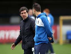Bristol Rovers Manager Darrell Clarke chats to one of his players - Mandatory byline: Robbie Stephenson/JMP - 07966 386802 - 26/12/2015 - FOOTBALL - Kingsmeadow Stadium - Wimbledon, England - AFC Wimbledon v Bristol Rovers - Sky Bet League Two