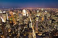 New York. elevated view on  fifth avenue and midtown buildings at sunsetNew york - United states  / la cinquieme avenue  vue d en haut New york - Etats unis