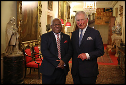 April 17, 2018 - London, London, United Kingdom - Prince Charles CHOGM London 2018. Prince Charles, Prince of Wales greets the Prime Minister of the Solomon Islands, Rick Houenipwela at Clarence House, before holding bilateral talks during the second day of the 'Commonwealth Heads of Government Meeting', (CHOGM) meeting on April 17, 2018 in London, England. The UK is hosting the heads of state and government from the Commonwealth nations this week. (Credit Image: © i-Images via ZUMA Press)