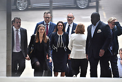 © Licensed to London News Pictures. 06/09/2019. London, UK. GINA MILLER is seen arriving at the The Royal Courts of Justice in London where a ruling is due to take place on a judicial review of Boris Johnson's planned suspension of Parliament. The case has been brought by remain campaigner Gina Miller, with support from former British Prime Minister John Major. Photo credit: Ben Cawthra/LNP