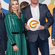 NLD/'Amsterdam/20170911 - Koningin Maxima bij uitreiking LOEY Awards , Koningin Maxima met Jouk Pleiter
