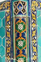 Ouzbekistan, Boukhara, patrimoine mondial de l Unesco,la mosquee Kalon, détail // Uzbekistan, Bukhara, Unesco world heritage, Kalon mosque, detail
