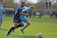 Leeds United defender Mason Rubie on the attack during the U18 Professional Development League match between Coventry City and Leeds United at Alan Higgins Centre, Coventry, United Kingdom on 13 April 2019.
