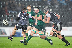 Paul Boyle of Connacht kicks ahead<br /> <br /> Photographer Simon King/Replay Images<br /> <br /> Guinness PRO14 Round 6 - Ospreys v Connacht - Saturday 2nd November 2019 - Liberty Stadium - Swansea<br /> <br /> World Copyright © Replay Images . All rights reserved. info@replayimages.co.uk - http://replayimages.co.uk