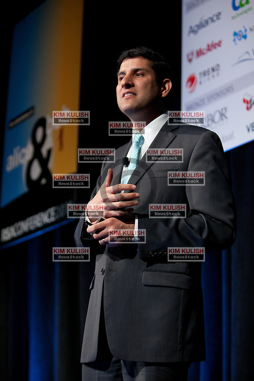 Vivek Kundra,  the first Chief Information Officer (CIO) of the United States of America gives a presentation to the Cloud Security Alliance Summit in San Francisco, Calif.