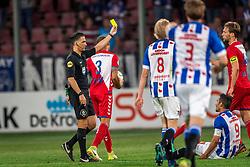 12-05-2018 NED: FC Utrecht - Heerenveen, Utrecht<br /> FC Utrecht win second match play off with 2-1 against Heerenveen and goes to the final play off / Scheidsrechter Serdar Gozubuyuk gives the yellow card Willem Janssen #14 of FC Utrecht