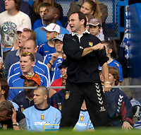 Photo: Daniel Hambury.<br />Chelsea v Aston Villa. The Barclays Premiership. 30/09/2006.<br />Villa's manager Martin O'Neill shows emotion.