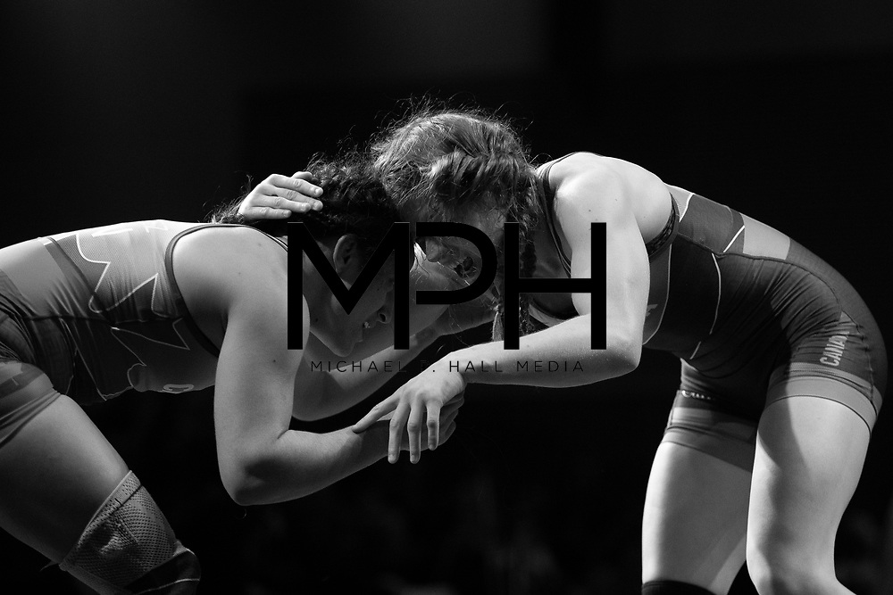 Athletes compete in the Freestyle Wrestling Canada Olympic Trials ahead of the 2020 Tokyo Olympics in Niagara Falls, ON on Friday, December 6, 2019. Wrestling Canada/Michael P. Hall
