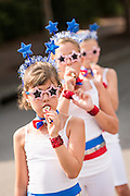 Young members of Uncle Sam's Band play their kazoo's during the annual I'On Community Independence Day Parade on July 4, 2012 in Mt Pleasant, South Carolina.