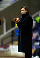 Photo: Jed Wee.<br />Bolton Wanderers v West Ham United. The Barclays Premiership. 11/03/2006.<br /><br />Bolton manager Sam Allardyce applauds his team.