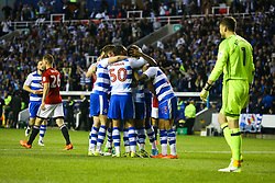 Reading celebrate, Goal, Yann Kermorgant of Reading scores from the penalty spot, Reading 1-0 Fulham - Mandatory by-line: Jason Brown/JMP - 16/05/2017 - FOOTBALL - Madejski Stadium - Reading, England - Reading v Fulham - Sky Bet Championship Play-off Semi-Final 2nd Leg
