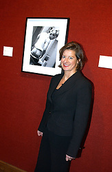 Photographer ALISON JACKSON at an aution of art inspired by footballer David Beckham in aid of The National Deaf Children's Society and held at Christie's, St.James's, London on 4th November 2004.<br />