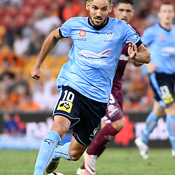 BRISBANE, AUSTRALIA - FEBRUARY 3: Milos Ninkovic of Sydney dribbles the ball during the round 18 Hyundai A-League match between the Brisbane Roar and Sydney FC at Suncorp Stadium on February 3, 2017 in Brisbane, Australia. (Photo by Patrick Kearney/Brisbane Roar)