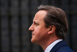 Downing Street, London, March 30th 2015. British Prime Minister David Cameron addresses the press following his visit to The Queen to announce the general election on May 7th 2015.