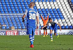 Peterborough United's Marcus Maddison celebrates scoring his goal - Photo mandatory by-line: Joe Dent/JMP - Mobile: 07966 386802 - 04/10/2014 - SPORT - Football - Peterborough - London Road Stadium - Peterborough United v Oldham Athletic - Sky Bet League One