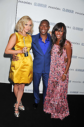 Left to right, FEARNE COTTON, DIZZIE RASCAL and ALEXANDRA BURKE at the Glamour Women of The Year Awards 2011 held in Berkeley Square, London W1 on 7th June 2011.