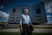 MONTGOMERY, AL -- 5/25/17 -- Even at age 80, Morris Dees still comes into the office daily. The attorney has made a career taking down racist organizations and hate groups over the years, and has created an infrastructure to continue that work well into the future. Dees is pictured in front of SPLC headquarters.<br /> Civil Rights attorney Morris Dees co-founded the Southern Poverty Law Center in 1971. The group has taken on the Ku Klux Klan and fought for against hate for decades, but is now facing criticism that it has labeled some groups without just cause..…by André Chung #_AC17481