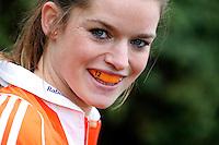 AMSTELVEEN - HOCKEY -  Lidewij Welten is ambassadeur  van Interpolis, sponsor van de KNHB. FOTO KOEN SUYK