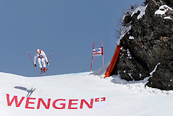 19.01.2013, Lauberhornabfahrt, Wengen, SUI, FIS Weltcup Ski Alpin, Abfahrt, Herren, im Bild Joachim Puchner (AUT) // in action during mens downhillrace of FIS Ski Alpine World Cup at the Lauberhorn downhill course, Wengen, Switzerland on 2013/01/19. EXPA Pictures © 2013, PhotoCredit: EXPA/ Freshfocus/ Christian Pfander..***** ATTENTION - for AUT, SLO, CRO, SRB, BIH only *****