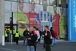 Bristol City fans at Brighton and Hove Albion - Mandatory byline: Dougie Allward/JMP - 07966 386802 - 20/10/2015 - FOOTBALL - American Express Community Stadium - Brighton, England - Brighton v Bristol City - Sky Bet Championship