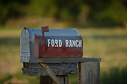 mailbox of the Ford Ranch in southeastern Colorado near the New Mexico border.