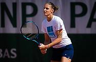 Karolina Pliskova of the Czech Republic during practice ahead of the Roland-Garros 2021, Grand Slam tennis tournament, Qualifying, on May 28, 2021 at Roland-Garros stadium in Paris, France - Photo Rob Prange / Spain ProSportsImages / DPPI / ProSportsImages / DPPI