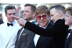 David Furnish, Sir Elton John and Taron Egerton attending the Rocketman Premiere as part of the 72nd Cannes International Film Festival in Cannes, France on May 16, 2019. Photo by Aurore Marechal/ABACAPRESS.COM