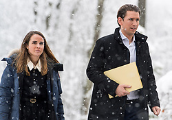 10.01.2019, Hotel Schlosspark, Mauerbach, AUT, Bundesregierung, Eintreffen der Regierungsmitglieder zur Regierungsklausur 2019, im Bild Bundeskanzler Sebastian Kurz (ÖVP) // Austrian Federal Chancellor Sebastian Kurz during convention of the Austrian government at Mauerbach in Lower Austria, Austria on 2019/01/10 EXPA Pictures © 2019, PhotoCredit: EXPA/ Michael Gruber
