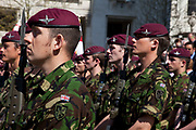 St. George's Day Parade, London. This has not taken place in the city since 1585, so is a tradition revived in 2010. Members of the Parachute Regiment.