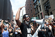 NEW YORK, NEW YORK: JUNE 6, 2020-  Recording Artist Jon Baptiste responds to the global police brutality. which most recently resulted in the homicide of George Floyd by the Minneapolis Police Department on May 25, 2020 with 'WE ARE' A Peaceful Protest March with Music through the streets of New York City around the Union Square section on June 6, 2020 in Brooklyn, New York City.   (Photo by terrence jennings/terrencejennings.com)
