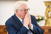 02 FEB 2021, BERLIN/GERMANY:<br /> Frank-Walter Steinmeier, Bundespraesident, waehrend einem Interview, Robert-Blum-Saal, Schloss Bellevue<br /> IMAGE: 20210202-01-053<br /> KEYWORDS: BUndespräsident