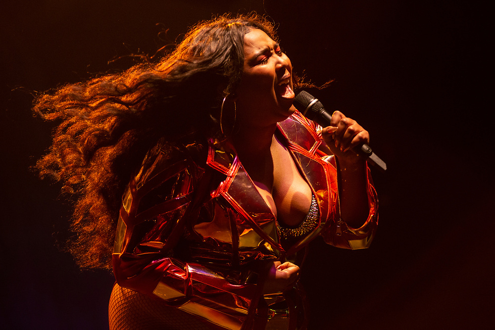 Lizzo performing at Summerfest on June 27, 2019.