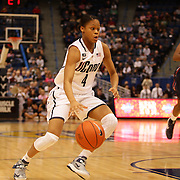 Moriah Jefferson, Connecticut, in action during the Connecticut V Syracuse Semi Final match during the Big East Conference, 2013 Women's Basketball Championships at the XL Center, Hartford, Connecticut, USA. 11th March. Photo Tim Clayton