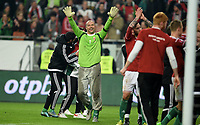Fotball , 15. november 2014 ,<br /> Play-off , Ungarn - Norge <br /> EURO 2016 - Qualification: play-off 2<br /> Hungary -Norway 2-0<br /> jubel Ungarn<br /> Gabor Kiraly , Ungarn