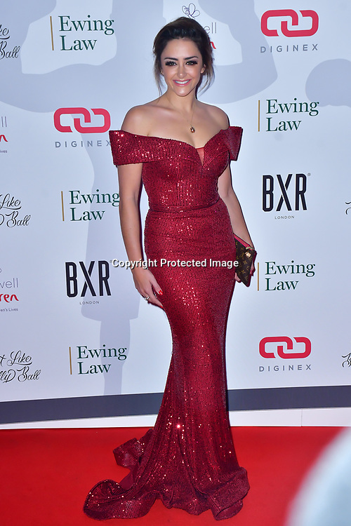 Hanna Miraftab Kinsella arrive at Float Like A Butterfly Ball for Caudwell Children Charity at Grosvenor House Hotel on 16 November 2019, London, UK.