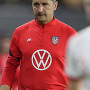 United States head coach Vlatko Andonovski is seen during the first match of the 2020 She Believes Cup soccer tournament at Exploria Stadium on 5 March 2020 in Orlando, Florida USA.