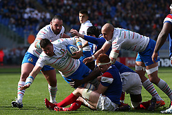 March 16, 2019 - Rome, RM, Italy - Sebastian Negri of Italy during the Six Nations International Rugby Union match between Italy and France at Stadio Olimpico on March 16, 2019 in Rome, Italy. (Credit Image: © Danilo Di Giovanni/NurPhoto via ZUMA Press)