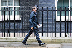 Downing Street, London, November 15th 2016.  Health Secretary Jeremy Hunt leaves Downing Street following the weekly cabinet meeting.