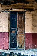 An old doorway in the town of Vilcababa, Ecuador.