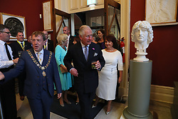 The Prince of Wales (centre) as he attends a dinner at Crawford Art Gallery as part of his tour of the Republic of Ireland with the Duchess of Cornwall. PRESS ASSOCIATION Photo. PRESS ASSOCIATION Photo. Picture date: Thursday June 14, 2018. See PA story ROYAL Charles. Photo credit should read: Brian Lawless/PA Wire